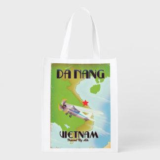 Sacola Ecológica Poster das viagens vintage de Vietnam do Da Nang