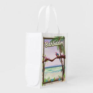 Sacola Ecológica Poster de viagens da paisagem do papagaio de
