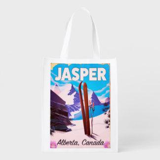 Sacola Ecológica Poster de viagens de Alberta Canadá do jaspe