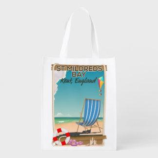Sacola Ecológica Poster de viagens de Kent Inglaterra da baía de