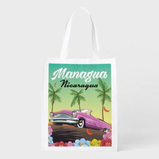 Sacola Ecológica Poster de viagens de Managua - de Nicarágua