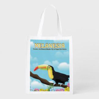 Sacola Ecológica Poster de viagens de Melanesia Toucan