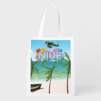 Sacola Ecológica Poster de viagens de Niue South Pacific