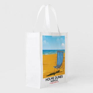 Sacola Ecológica Poster de viagens de Norfolk das dunas de Holme