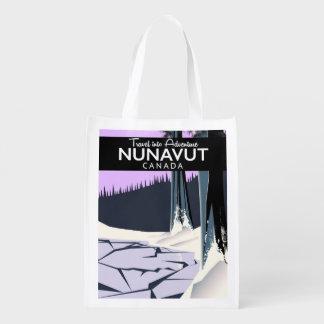 Sacola Ecológica Poster de viagens de Nunavut Canadá