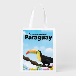 Sacola Ecológica Poster de viagens de Paraguai Toucan