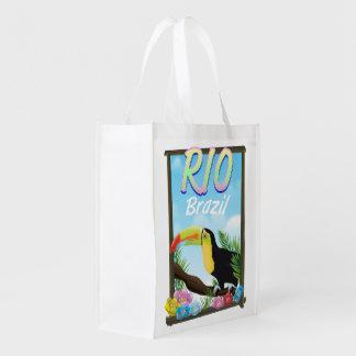 Sacola Ecológica Poster de viagens de Rio Brasil Toucan