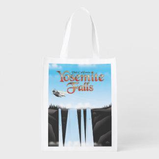 Sacola Ecológica Poster de viagens de Yosemite Falls Califórnia