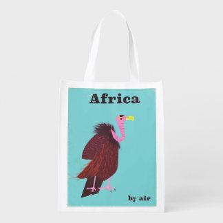Sacola Ecológica Poster de viagens do ar do vintage do abutre de