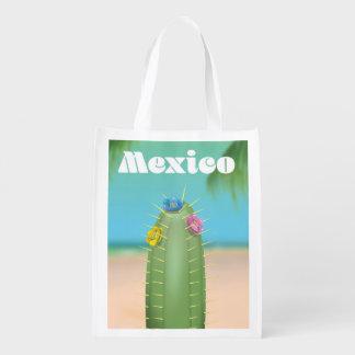 Sacola Ecológica Poster de viagens do cacto de México