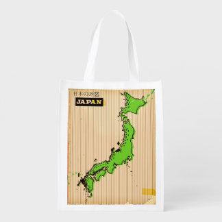 Sacola Ecológica Poster de viagens do estilo do vintage de Japão