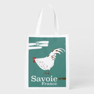 Sacola Ecológica Poster de viagens do galo novo de Sabóia France