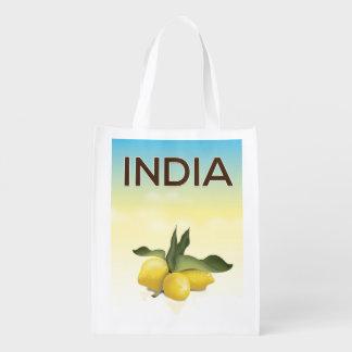 Sacola Ecológica Poster de viagens do limão de India