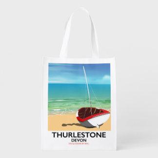 Sacola Ecológica Poster de viagens sul de Thurlestone Devon