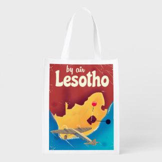Sacola Ecológica Poster do vôo das viagens vintage de Lesotho