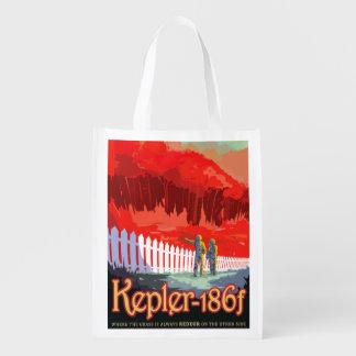 Sacola Ecológica Poster futuro de Sci Fi do viagem da NASA - Kepler