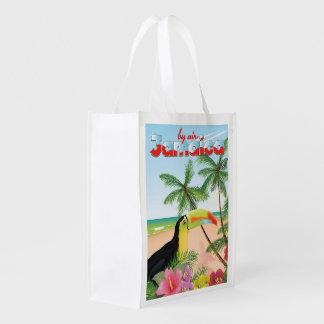 Sacola Ecológica Poster toucan da praia de Jamaica