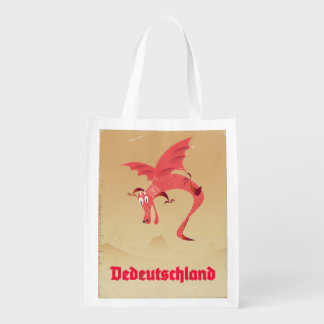 Sacola Ecológica Poster vintage do dragão de vôo da alemanha