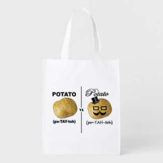 Sacola Ecológica Potayto contra o bolsa reusável de Potahto