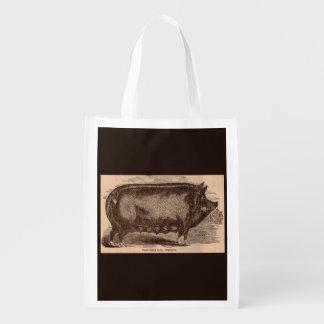 Sacola Ecológica Raça do século XIX da porca de Berkshire do