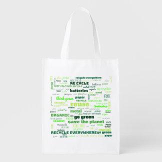 Sacola Ecológica Reduza, reúso, recicl a nuvem da palavra