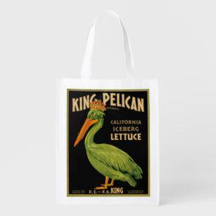 Sacola Ecológica Rei Pelicano Alface Produção Rotulagem - a bolsa