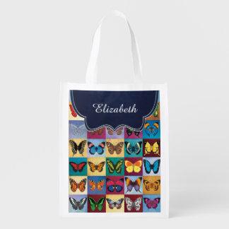 Sacola Ecológica Retalhos da borboleta personalizados