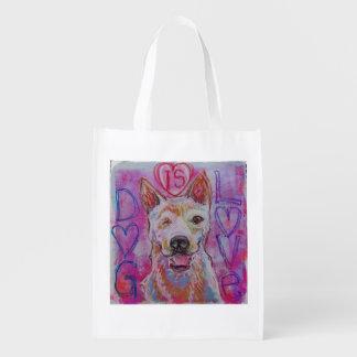 Sacola Ecológica Saco de compras reusável com design do cão