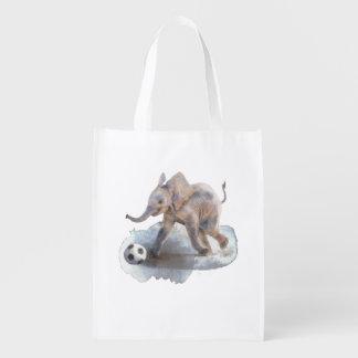 Sacola Ecológica Saco de compras reusável - elefante brincalhão