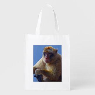 Sacola Ecológica Saco do cliente do macaco