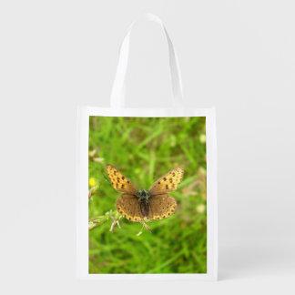 Sacola Ecológica Saco reusável afiado roxo da borboleta de cobre