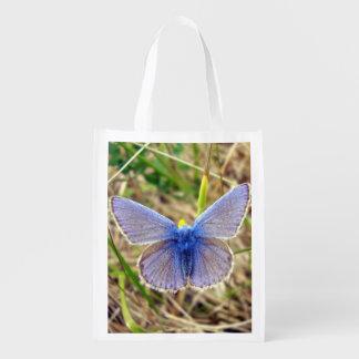 Sacola Ecológica Saco reusável da borboleta azul comum