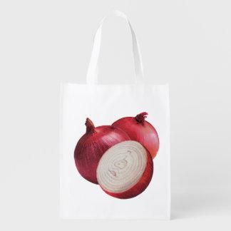 Sacola Ecológica Saco reusável da cebola vermelha