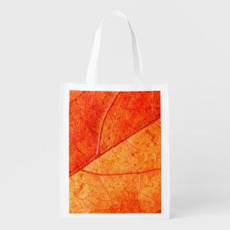Sacola Ecológica Saco reusável da folha do outono