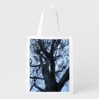 Sacola Ecológica Saco reusável da fotografia da silhueta da árvore