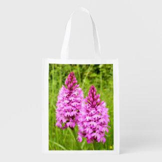 Sacola Ecológica Saco reusável da orquídea piramidal