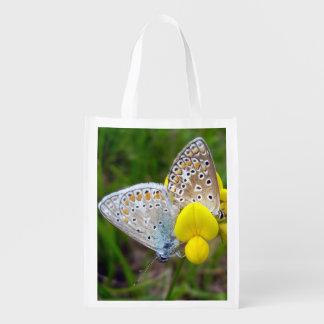 Sacola Ecológica Saco reusável das borboletas azuis comuns