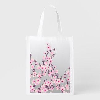 Sacola Ecológica Saco reusável das flores de cerejeira florais