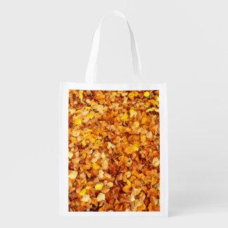 Sacola Ecológica Saco reusável das folhas de outono