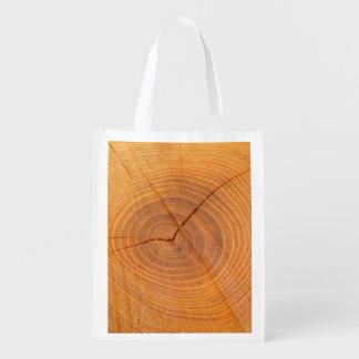 Sacola Ecológica Saco reusável de seção transversal da árvore da