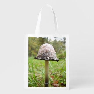 Sacola Ecológica Saco reusável do cogumelo desgrenhado do boné da