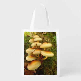 Sacola Ecológica Saco reusável do cogumelo do fasciculare de