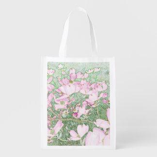 Sacola Ecológica Saco reusável do Dogwood cor-de-rosa