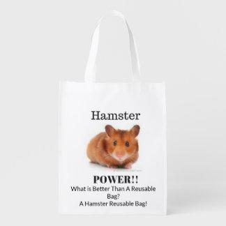 Sacola Ecológica Saco reusável do poder do hamster!