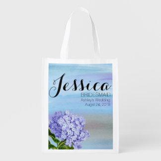 Sacola Ecológica Sacola azul disponível da dama de honra do
