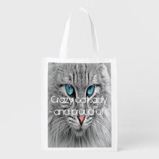 Sacola Ecológica Senhora louca do gato, foto feita sob encomenda do