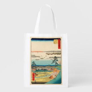 Sacola Ecológica Shinagawa, Japão: Impressão de Woodblock do