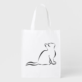Sacola Ecológica Silhueta do gato preto