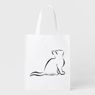 Sacola Ecológica Silhueta do gato preto, texto interno