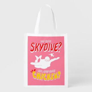 Sacola Ecológica Skydive ou galinha? (branco)
